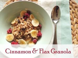 Cinnamon & Flax Granola