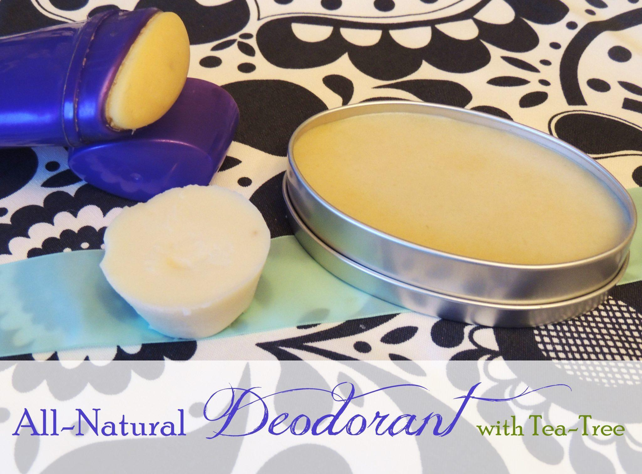 Homemade Deodorant with Tea Tree