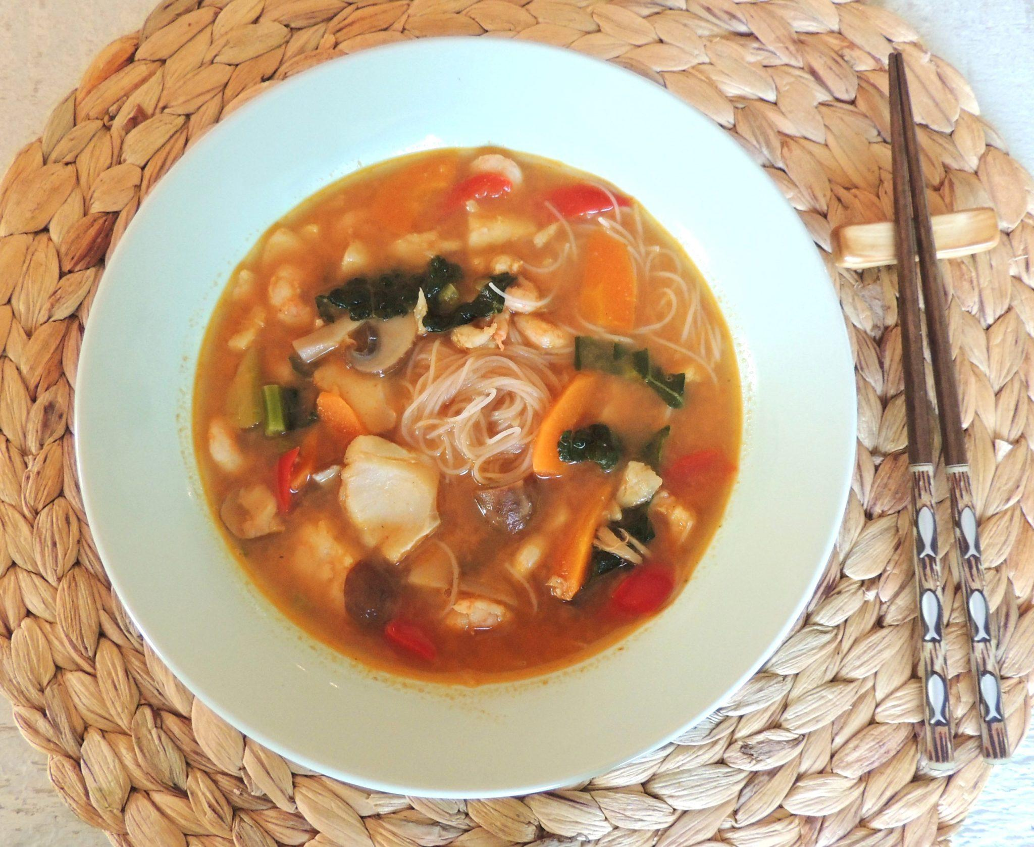 Coconut Curry Seafood Soup