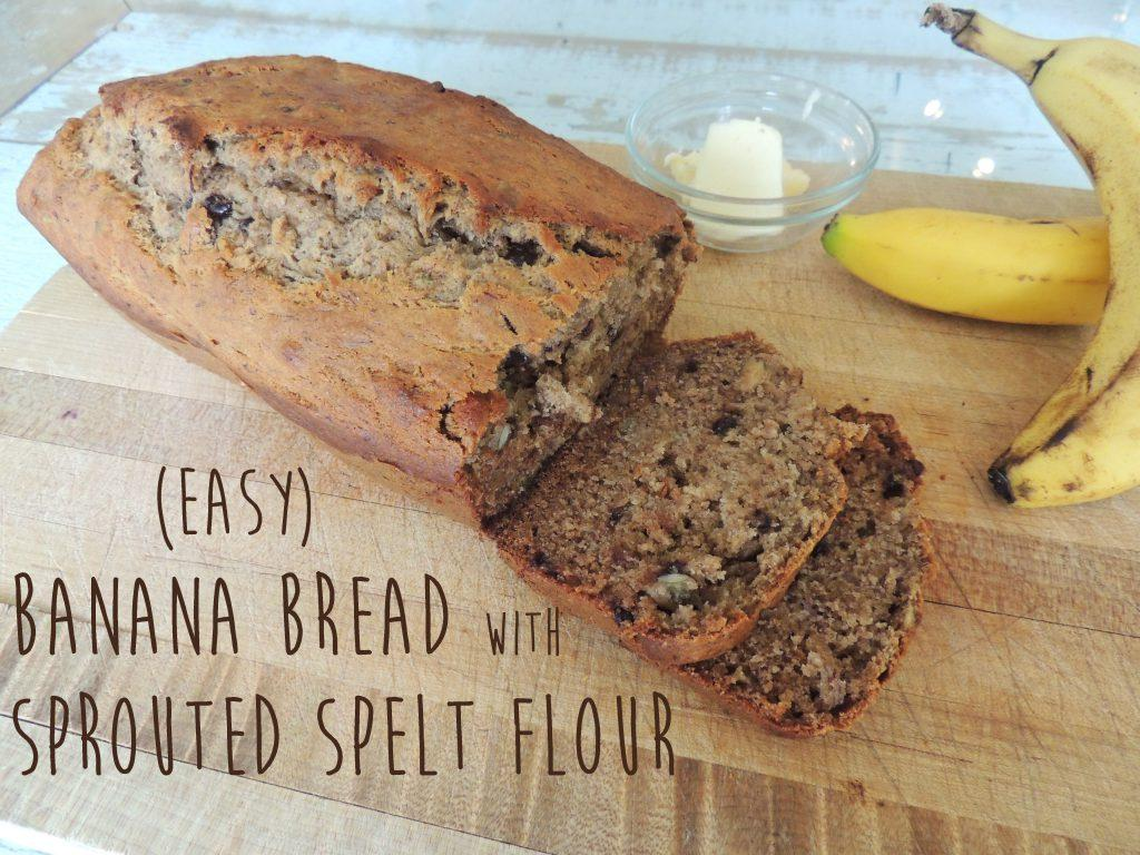 Sprouted Spelt Banana Bread