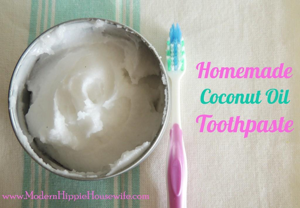 Homemade Coconut Oil Toothpaste