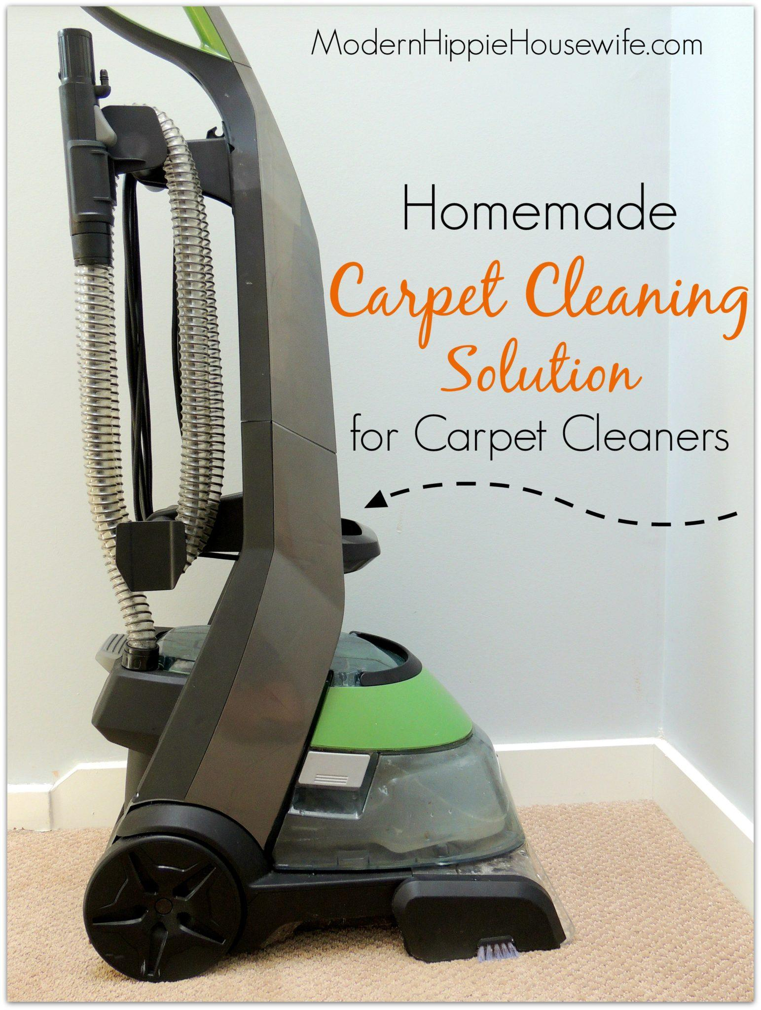 Homemade Carpet Cleaning Solution for