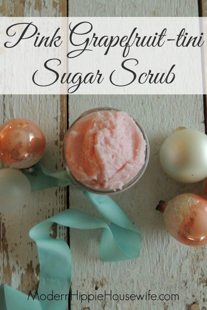 Pink Grapefruit-tini Sugar Scrub Pinterest