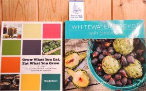 In my opinion, Whitewater Cookbooks are the best series EVER! And on the left, another fabulous, book by a local author.