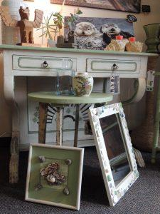 Vintage, and local artisan made, home decor.