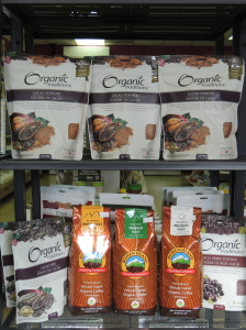 Organic cacoa powder and cacao nibs makes for the best hot chocolate!