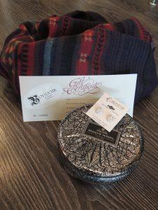 Scarves, candles and gift certificates!