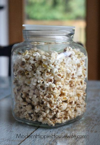 Popcorn in Airtight container