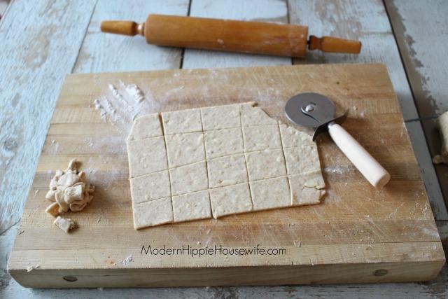 Sourdough Crackers - Cut Dough
