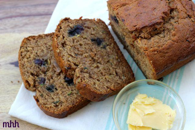 Zucchini, Blueberry Banana Bread1