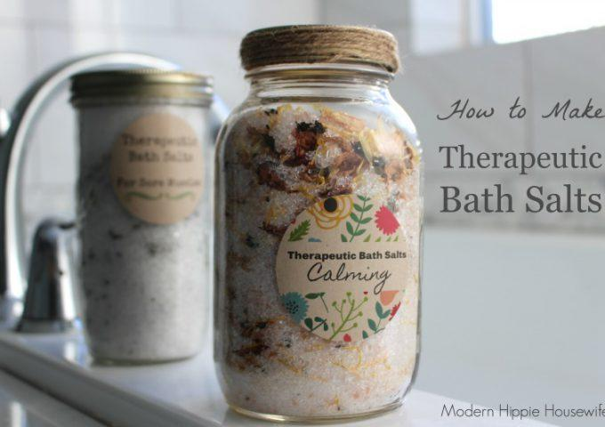 How to Make Therapeutic Bath Salts