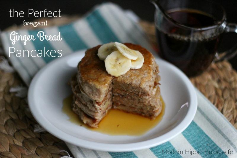 Ginger Bread Vegan Pancakes - 2