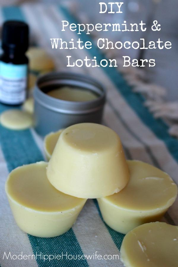 Peppermint & White Chocolate Lotion Bars2