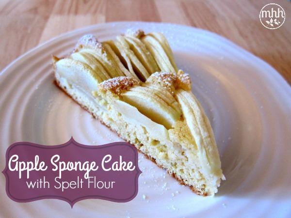 Apple Sponge Cake with Spelt Flour