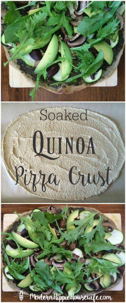 Soaked Quinoa Pizza Crust Recipe for Pinterest