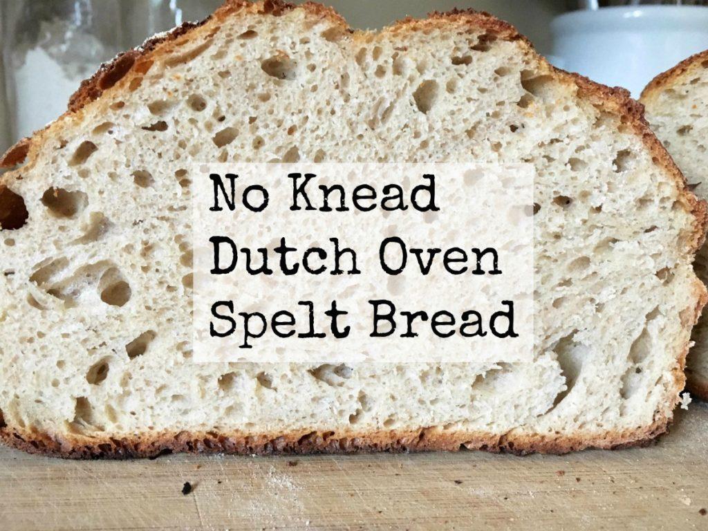 No Knead, Dutch Oven, Spelt Bread