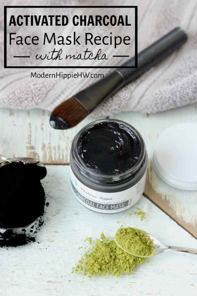 activated charcoal face mask recipe with matcha and clay modern hippie health wellness inc. Black Bedroom Furniture Sets. Home Design Ideas