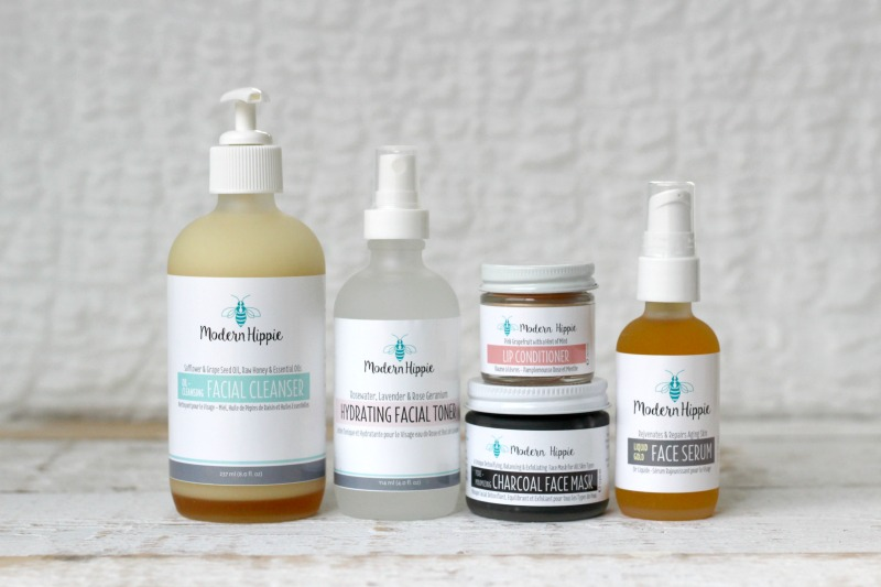 The Complete Modern Hippie Facial Bundle - Cleanser, Toner, Mask, Serum, Lip Conditioner